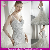 SD987 beaded mermaid tulle alibaba bridal gowns indian_bridal_wedding_dress