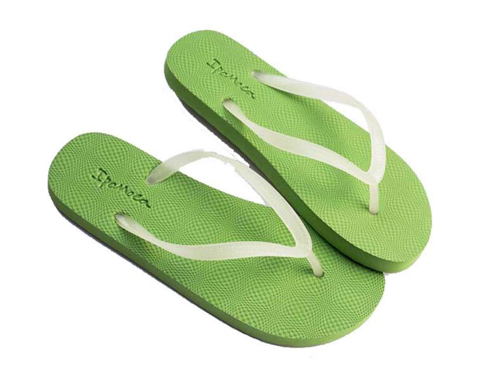 3e16605458ba Get Quotations · Onfly Couple Flip Flops Luminous Slippers Clip Toe Thong  Fashion Pure Color Waterproof Non-slip