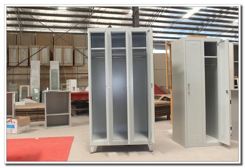 Kleedkamer In Slaapkamer : Moderne slaapkamer meubilair goedkope drie deur stalen kledingkast