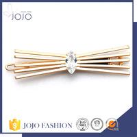 Fashion Woman Gold Metal Rhinestone Clip Hair Clip Cheap Price