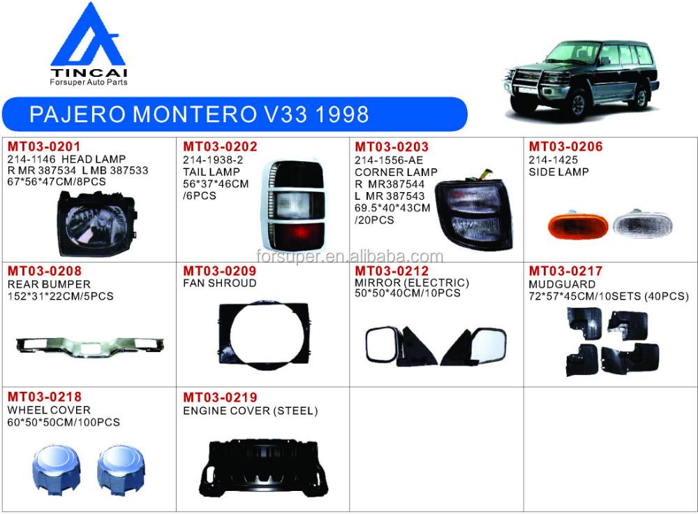 Rear Bumper For Mitsubishi Pajero Montero V33 1998 - Buy Pajero Montero V33  1998 Rear Bumper,Montero V33 1998 Rear Bumper,Montero V33 1998 Auto Bumper