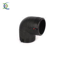 Plastic PE100/HDPE/PE 90 Degree Elbow for Electrical Fitting