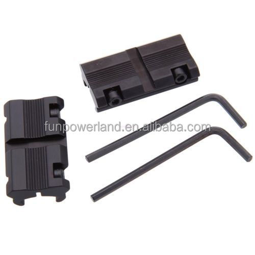 "Funpowerland 3/8"" 11mm Dovetail to 7/8"" 20mm Weaver Picatinny Rail Adapter Mount"