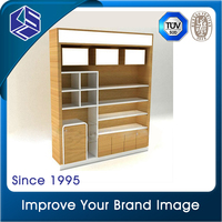 Alibaba china decoration for shoe shop wooden wall mount shoe display shelf