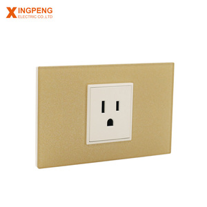 15A acrylic 3-pin plug socket south america standard wall socket for home application