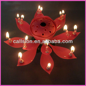 wholesale music rotating happy birthday candle malaysia