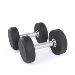 Professional urethane surface customized logo weights lifting for sale barbell dumbbell