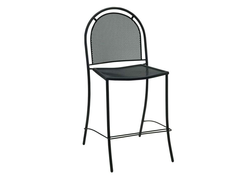 """Set Of 2 Brentwood Armless Outdoor Metal Stool Black Paint Dimensions: 22""""W X 23""""D X 44""""H Seat Dimensions: 29""""H Weight: 25 Lbs"""