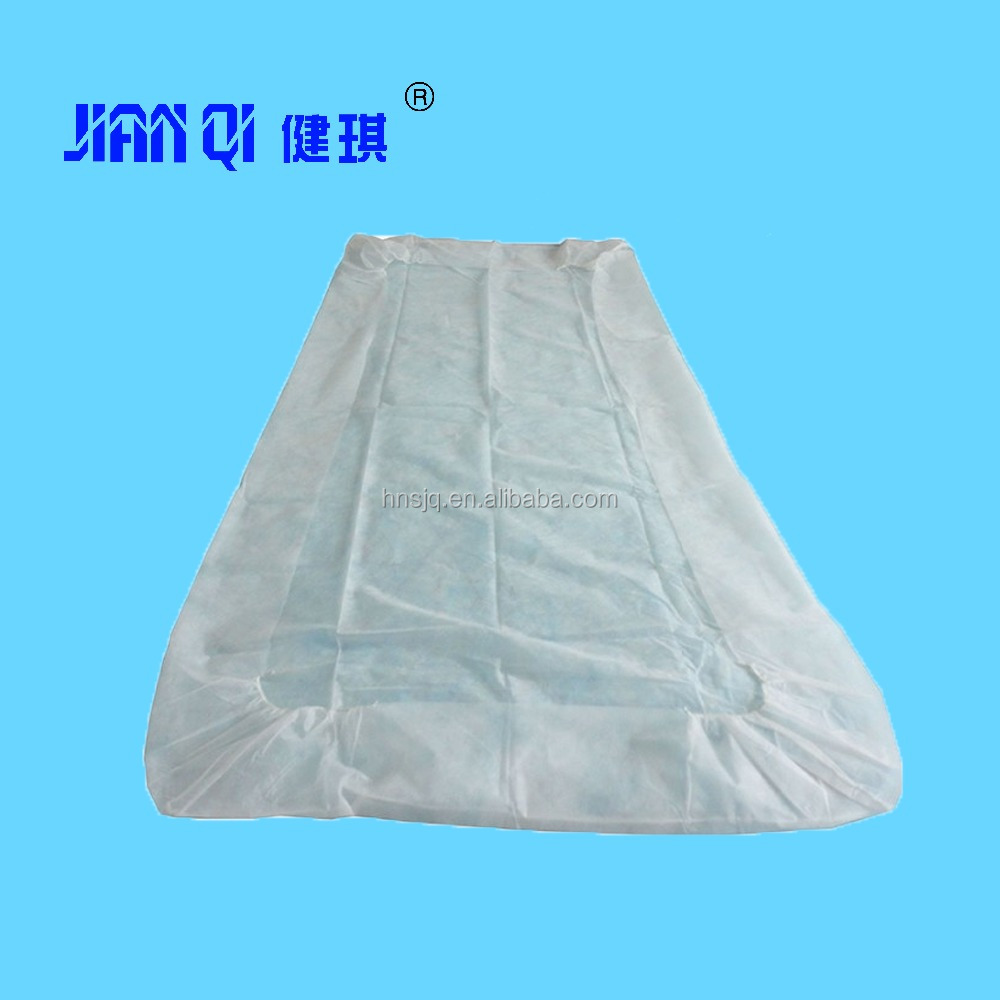 Medical Bed Sheet Cover With Elastic/Disposable Non-Woven Hospital Rubber Bed Sheet