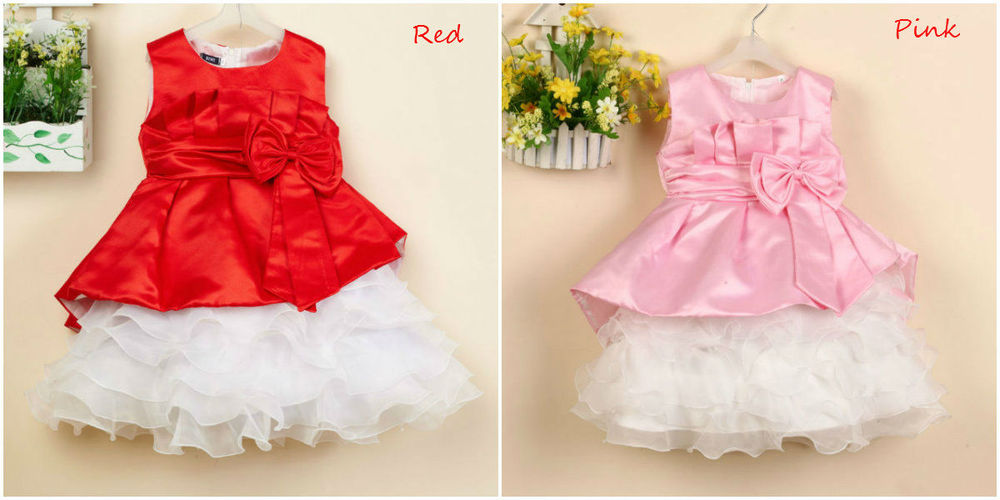 Christmas New Style Sleeveless 1-6 Years Old Baby Girl Dress Girls ...