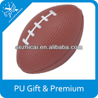 Logo customized pu foam rugby stress ball funny cute soft squeeze toys promotional soccer ball