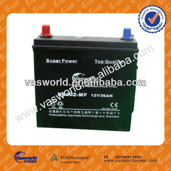 Best price MF auto battery N36 12v36ah car battery wholesale