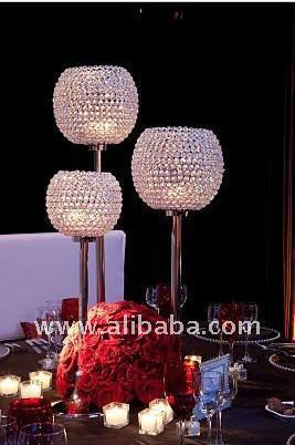 Whole Crystal Globe Candle Holder Acrylic Pillar For Wedding Decoration