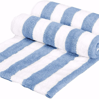 d72191f8c7d 100%pure cotton blue and white cabana stripe beach towel terry cloth fabric