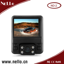 Hot sell dual lens car DVR dash camera with GPS