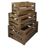 Decor home arts crafts boxes cheap wooden crates wholesale for storage