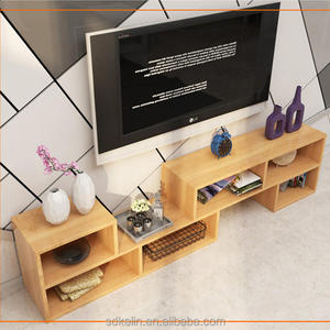 Wooden design upright tv stand