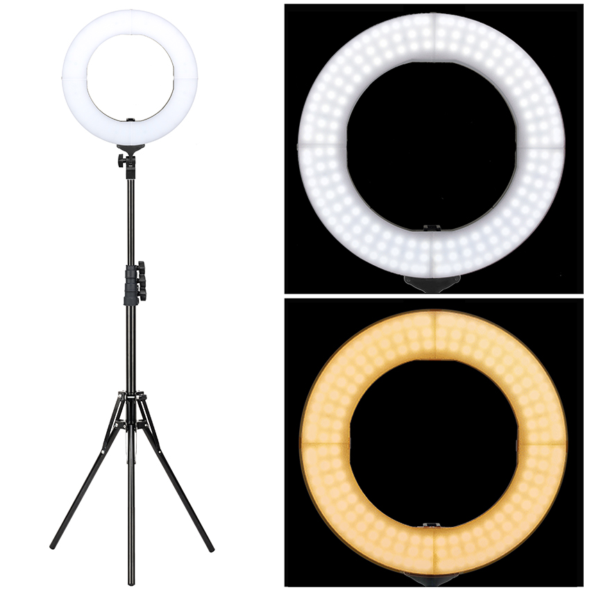 Natural Ventilation LED Photography video lamp dslr camera Electrodeless dimming fill-in light Kit