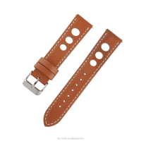 18 20 22 24mm Customized 3 holes Quick Release Spring Bar Rally Racing Sport Watch Leather Strap