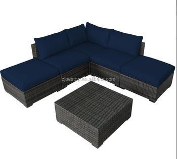 l shape chaise lounge rattan sofa set garden outdoor furniture poly rattan outdoor furniture sofa