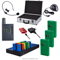 USB charging UHF frequency Wireless Tour Guide System/radio Guides For Visiting Museum/training/government/hajj/meeting/church