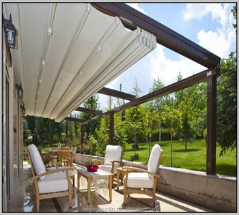 Patio Adjustable Sun Shades Retractable Metal Pergola