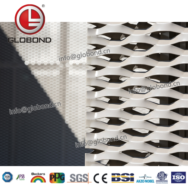 GLOBOND Expanded Metal Wire Mesh/Expanded screen/expandable Sheet Metal Diamond Mesh