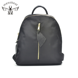 Custom Nylon Bag bagpack smart black school fashionable style Nylon backpack women