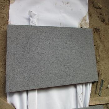 Hainan Black Basalt Anti Slip Grind 200 Floor Tiles For Outdoor