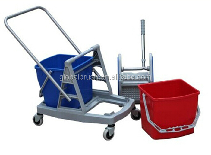 Hq2334 60l Double Mop Wringer Trolley Two Buckets Wringer