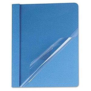 """Universal - Clear Front Report Cover Tang Fasteners Letter Size Light Blue 25/Box """"Product Category: Binders & Binding Systems/Report Covers & Pocket Portfolios"""""""