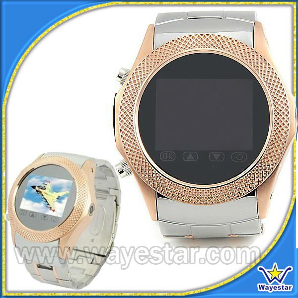 Fashion Golden Watch Phone