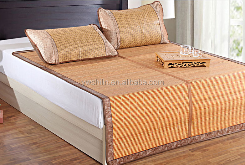 Roll Up Bamboo Bed Mat With Pillow