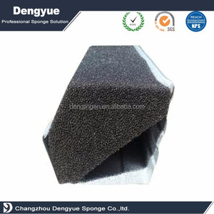 Hotsale Reticulated Foam Polyurethane foam gutter activated carbon filter sponge