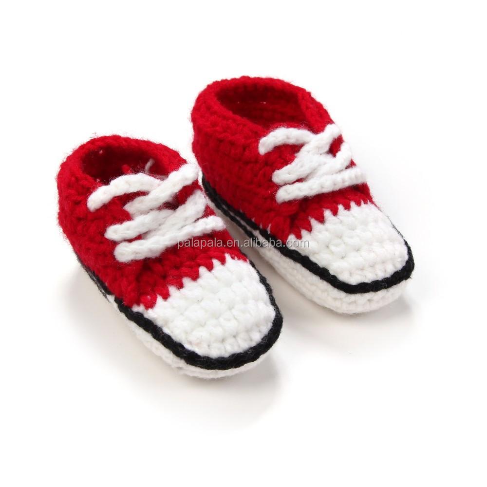 Neue Hand Stricken Baby Häkeln Turnschuhe Schuhe Häkeln Sport Schuhe