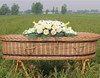 colorful stripes hand-made wicker cremation caskets coffins funeral