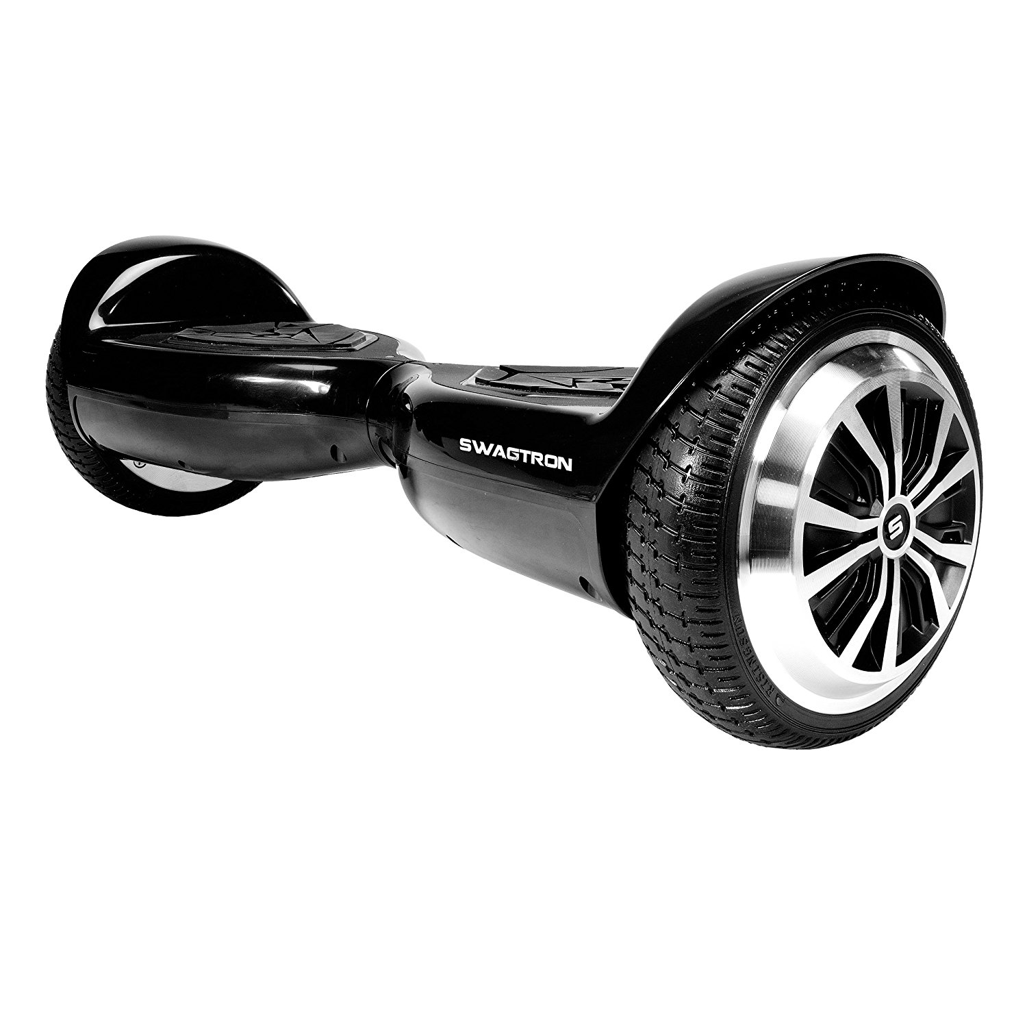 SWAGTRON T5 Entry Level Hoverboard for Kids and Young Adults; Optional Learning Mode; Patented Battery Protection (Black)