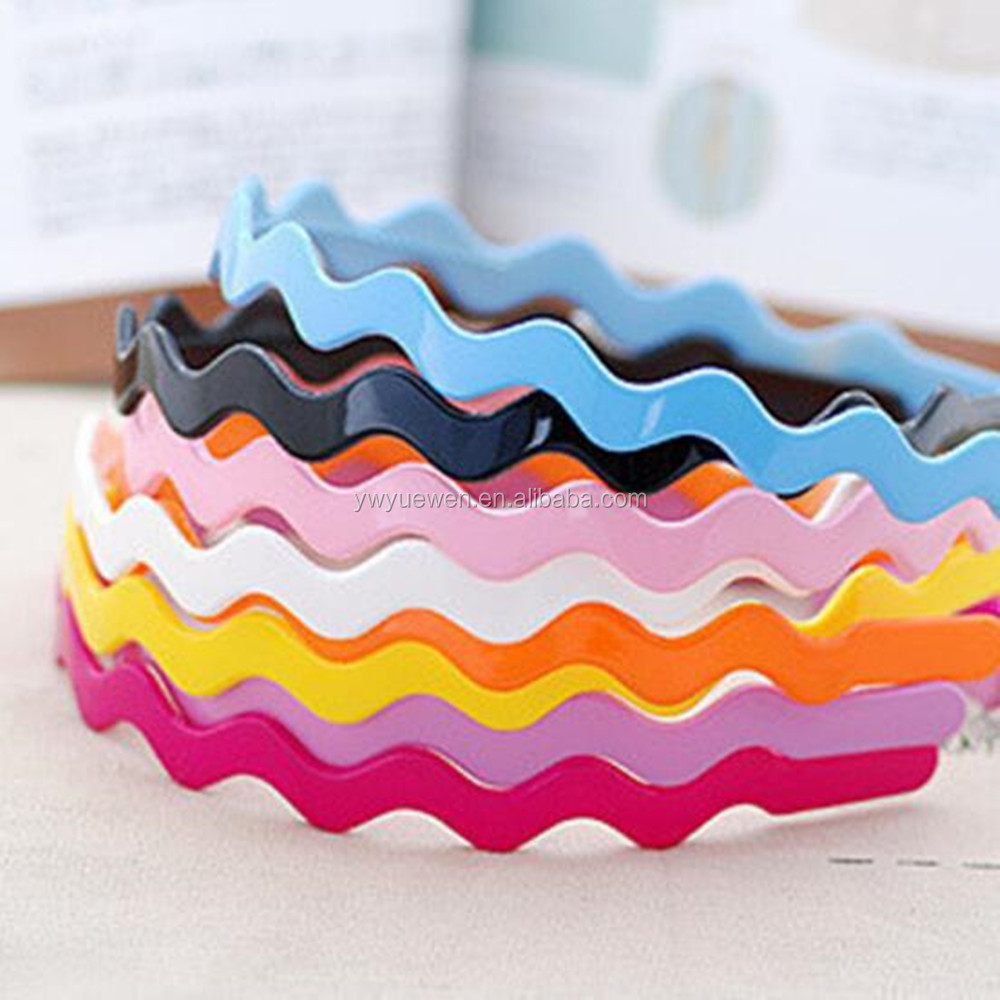 Fashion candy wavy plastic <strong>hair</strong> hoop <strong>hair</strong> <strong>accessory</strong>