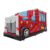 0.55mm PVC commercial red fire truck bus inflatable bounce house for kids