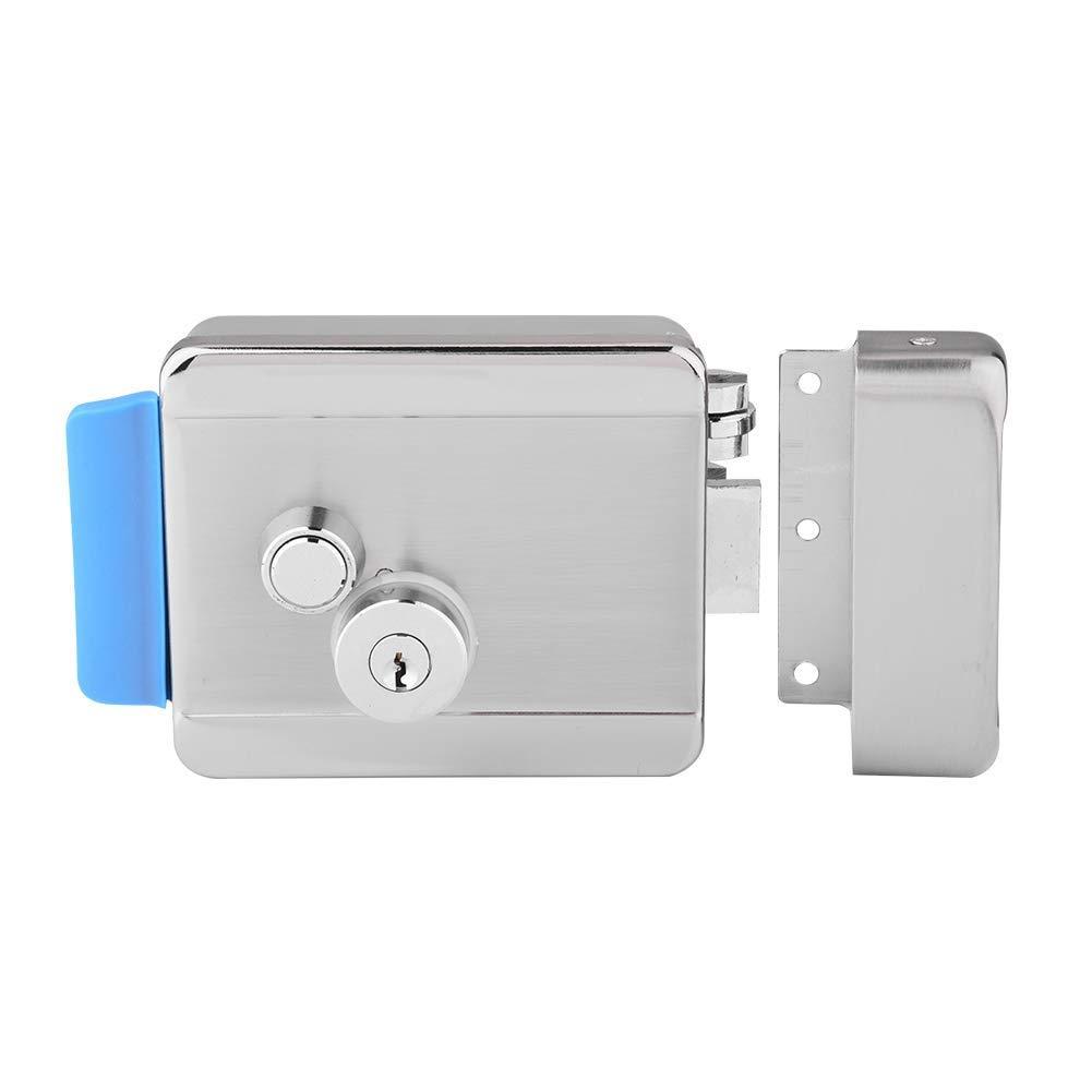 fosa Electronic Door Lock with Keys, Home Security Electric Lock Set Electric Control Door Lock Electronic Deadbolt for Door Access Control System Kit for Wood/Sainless Steel Door