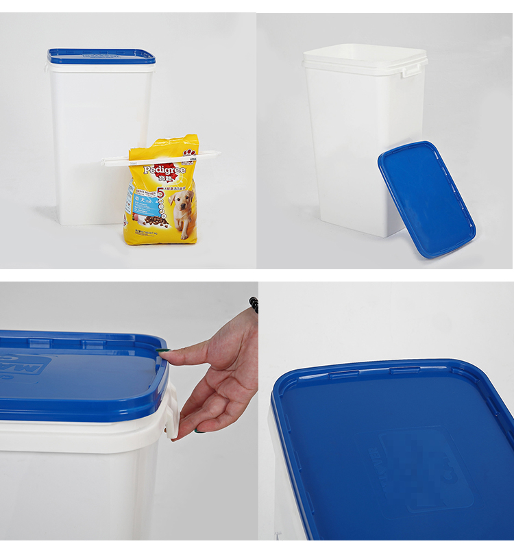Taizhou Stackable Plastic Airtight Pet Dry Food Storage Bins, Pet  Food  Bins/