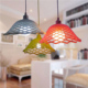 The new silicone color lamp head pendant lamp for bedroom bar decorative DIY small chandelier with LED bulb