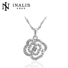 Fashion Hot Sale Crystal Flower Gold Plated Jewelry Accessories
