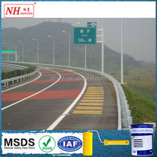Yellow thermoplastic reflective road marking paint