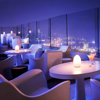 Modern Battery Operated Wireless Led Restaurant Color Changing Egg