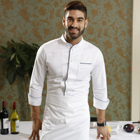 Hotel restaurant pure cotton men chef coat jacket uniform