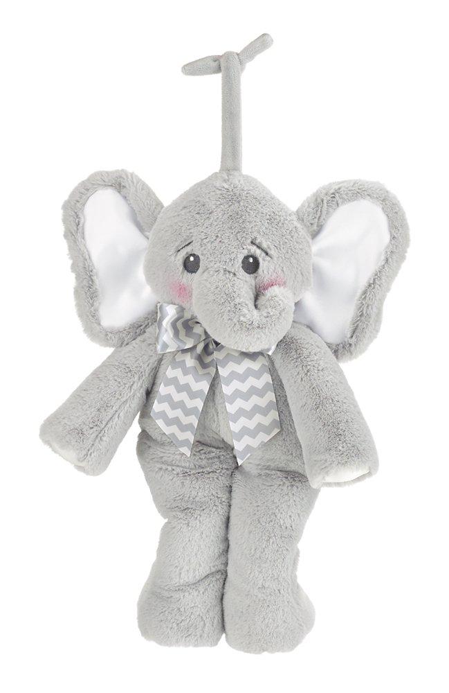 Bearington Hush-a-Bye Crib Toy Lil Spout Elephant Musical Plays Brahms Lullaby …