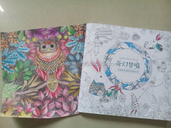 Hot Sale Alice Adult Coloring Book Secret Garden Series With Factory Price