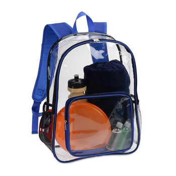 Durable Waterproof Transparent PVC Clear Backpack For School Kids