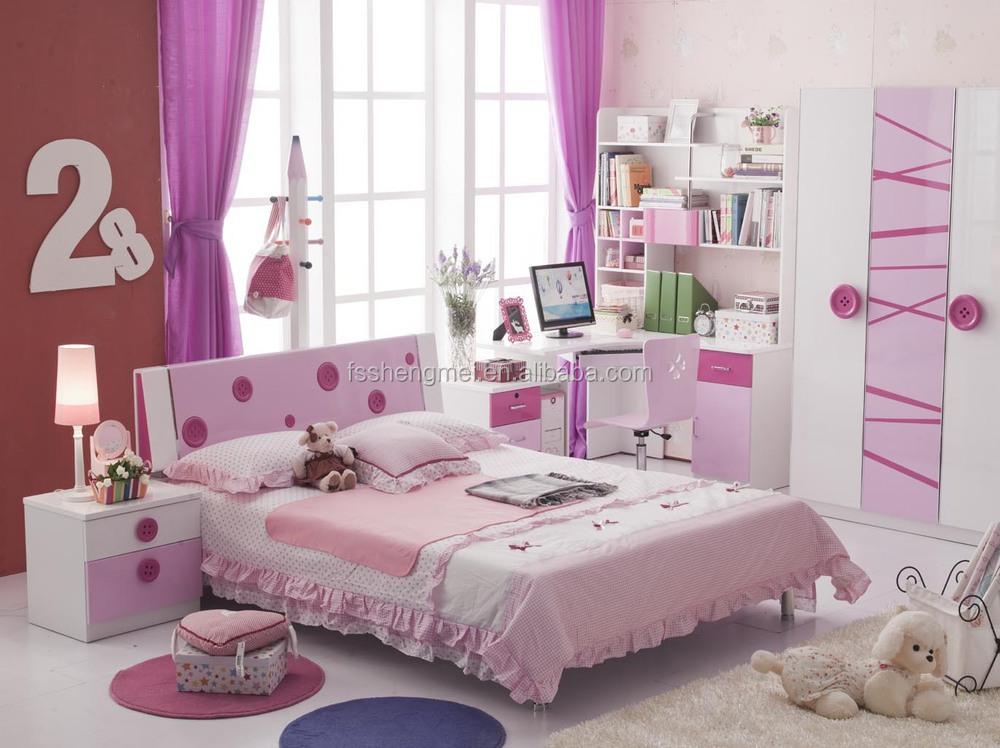 Mooie Slaapkamer Voor Kinderen.Mooie Meisjes Kinderen Slaapkamer Meubilair Sets Enkel Bed 3 Deurs